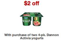Activia Yogurt Target Coupon