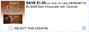 Hersheys Bliss Chocolate Coupon