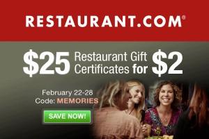 Restaurant.com Coupon Code