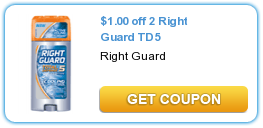 Right Guard Total Defense 5 Coupon