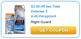 Right Guard Total Defense 5 Printable Coupon