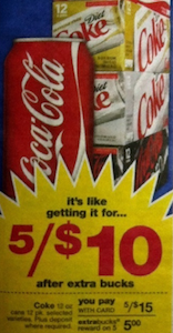 Diet Coke CVS ECB Deal