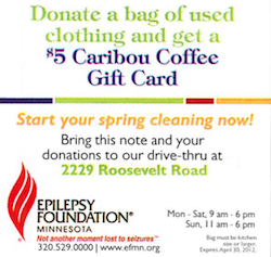 Epilepsy Foundation Caribou Coffee Promo