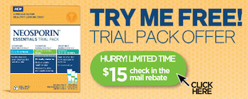 Neosporin Essentials Trial Pack Try Me FREE Rebate