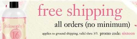 Philosophy FREE Shipping
