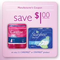 Stayfree Carefree Coupon