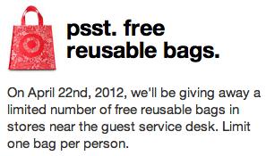 Target FREE Reusable Tote Bag