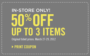 The Limited Coupon: 50% off Up to 3 Items!