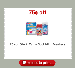 Tums Freshers Target Coupon