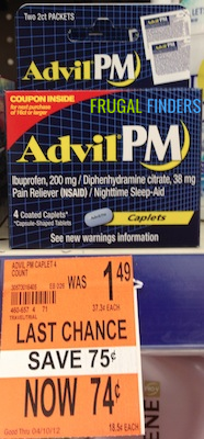 Walgreens Advil PM Clearance Deal