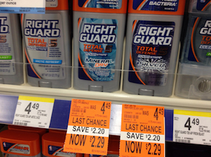 Walgreens Right Guard Deodorant Clearance