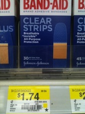 Band Aid Clear Strips