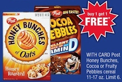 CVS Honey Bunches of Oats Cereal Deal