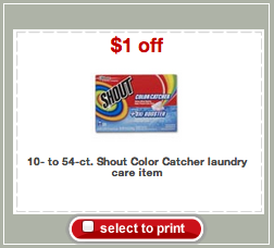 Shout Color Catcher Target Coupon
