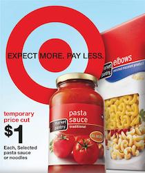 Target Pasta Sauce Deal