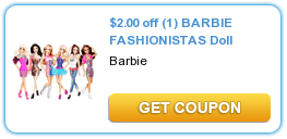 Barbie Fashionistas Doll Coupon