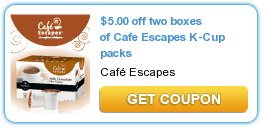 Cafe Escapes K Cups Coupon