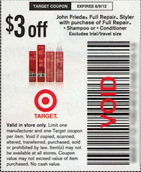 John Frieda Target Coupon