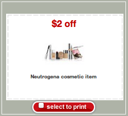 Neutrogena Cosmetics Target Coupon