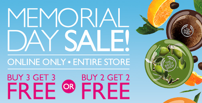 The Body Shop Memorial Day Sale