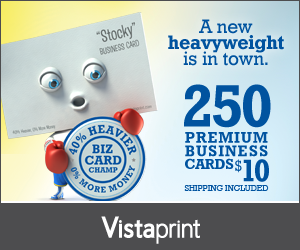 Vistaprint Business Cards Deal
