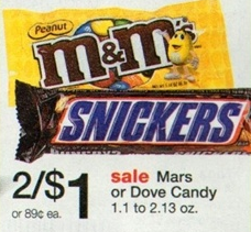 Walgreens Dove Candy Deal