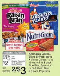 Walgreens Kelloggs Register Reward Deal