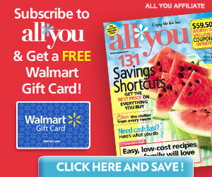 All You Magazine Subscription Deal FREE Walmart Gift Card