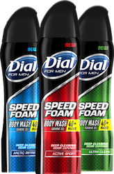 Dial for Men Speed Foam Body Wash