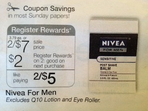 Nivea for Men Register Reward Deal