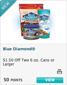 Recyclebank Blue Diamond Almonds Coupon