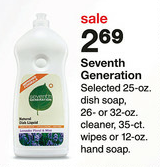 Target Seventh Generation Sale