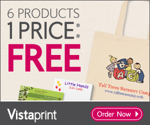 Vistaprint 6 FREE Products