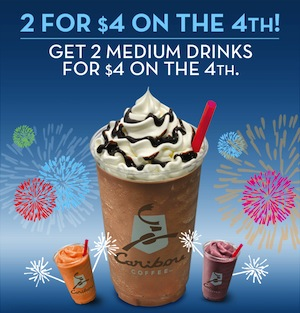 Caribou Coffee 4th of July Coupon