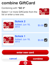 Combine Target Gift Cards