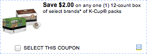K Cups Printable Coupon