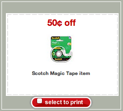 Scotch Magic Tape Target Coupon