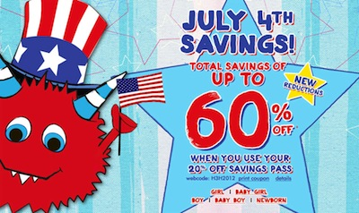 The Childrens Place July 4th Sale