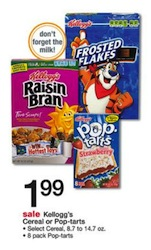 Walgreens Kelloggs Cereal Deal