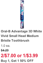 Walgreens Oral B Toothbrush Deal