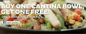 Buy One Get One Free Taco Bell Cantina Bowl