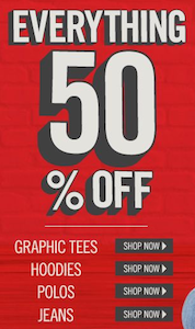 Aeropostale 50 off Everything