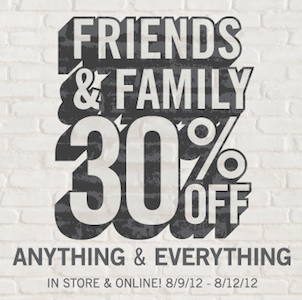 Aeropostale Friends Family Sale