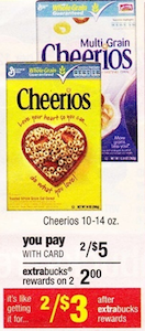 CVS Cheerios Deal