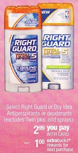 CVS Right Guard Deodorant Deal
