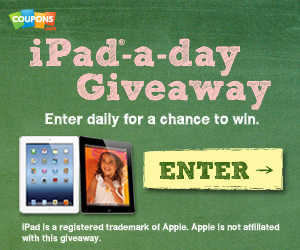 Coupons Com iPad a Day Giveaway