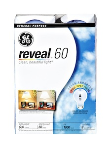 GE Reveal 60 Light Bulbs