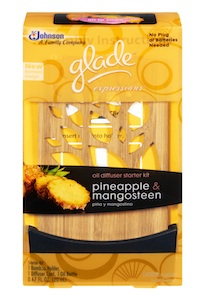 Glade Expressions Pineapple Mangosteen Diffuser Starter Kit