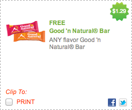 Good n Natural Bar FREE Coupon