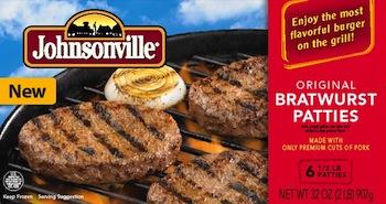 Johnsonville Bratwurst Burgers